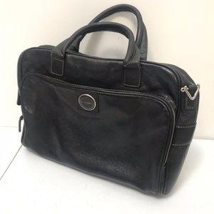 Lancel Pebbled Leather Messenger Bag